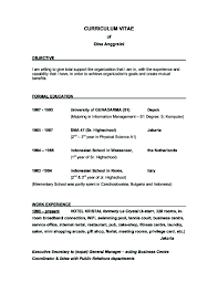Example Of Resume Objectives by Good Objective Statements For Resume 4 Examples Of Resume
