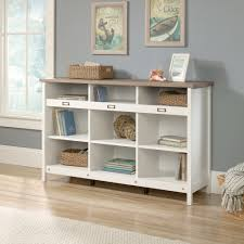 White Bookcase With Drawers by Adept Storage Storage Credenza 417653 Sauder