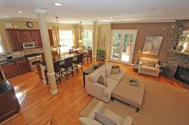 great open floor plan living room and kitchen cool home design