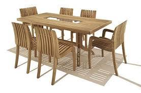 Teak Dining Room Set Dining Room Janeiro Metal Seater Wood Dining Set With Pendant
