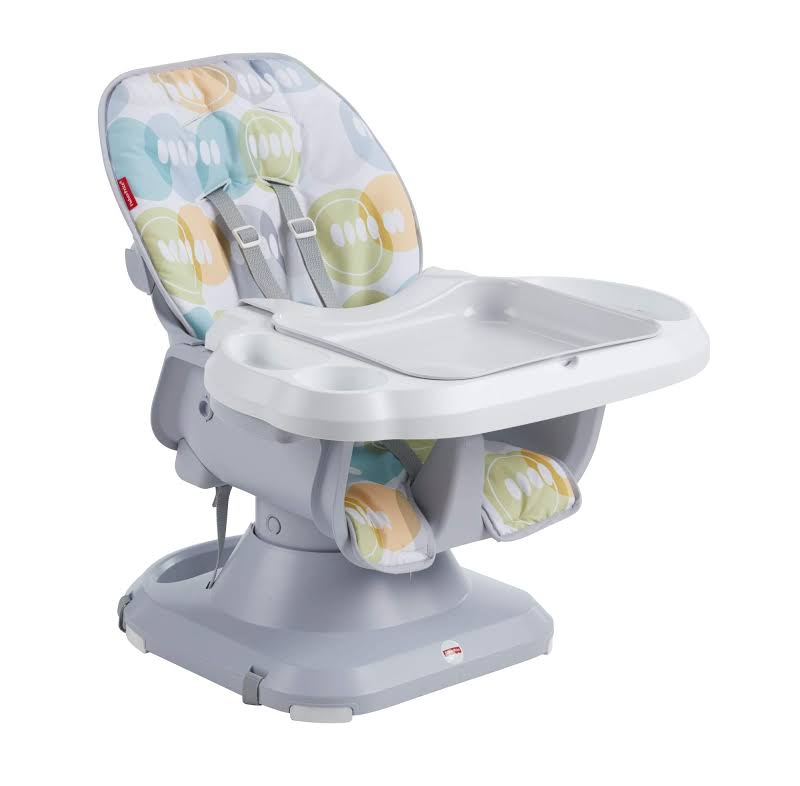 Fisher-price Ftm97 Spacesaver Adjusting Baby High Chair Booster Seat, Multicolor