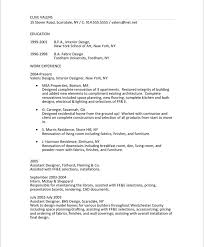 Examples Of Summaries On Resumes by Interior Designer Free Resume Samples Blue Sky Resumes