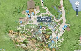 Printable Map Of Disney World Pandora The World Of Avatar Interactive Map Now Available On My