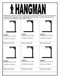 Thanksgiving Hangman Hangman Templates Plus Lots Of Other Printable Activities For Kids