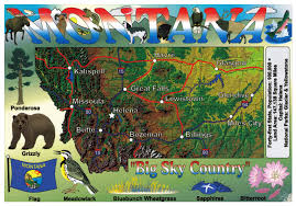 Map Of The Usa by Large Tourist Map Of Montana State Montana State Usa Maps Of