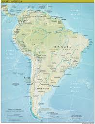 Latin America Map Labeled by Physical Map Of South America Ezilon Maps South America Physical
