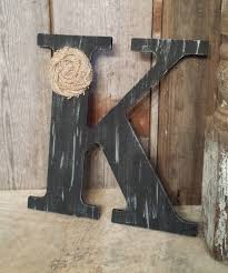 Metal Decorative Letters Home Decor Black Rustic Chic Wooden Letter K Home Decor Letters Burlap