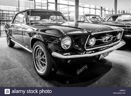 1967 Ford Mustang Black Stuttgart Germany March 03 2017 Pony Car Ford Mustang Stock