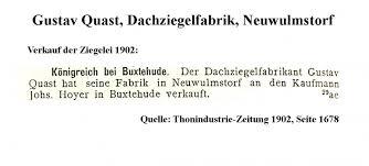 Dachziegel-Archiv: Gustav Quast, Dachziegelfabrik (Quast ... - 28423