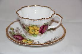 pansy salisbury fine bone china tea cup saucer 1878n made in