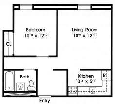 Two Bedroom Apartment Floor Plans Floor Plan Under 500 Sq Ft Standard Floor Plan One Bedroom