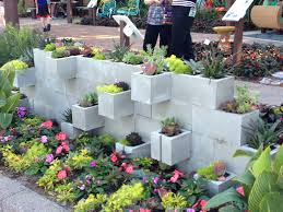 Outdoor Wall Planters by Concrete Block Planter Wall Outside Pinterest Concrete