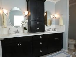 how to design a luxury bathroom with black cabinets buffets and