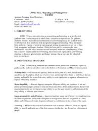 Resume Sample For Ojt Pdf by Syllabus Reporting And Writing News Jomc 753 Copy Editing