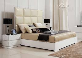Elegant White Bedroom Furniture Bedroom Design Ideas - White tufted leather bedroom set