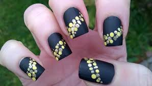black matte nail polish designs 5 diy easy party nails for new