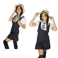 schoolgirl halloween costume fancy dress 5 piece costume sowest
