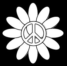clipartist net clip art peace symbol peace sign flower 6 black