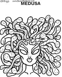 medusa coloring pages line drawings 6011