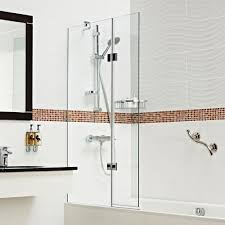 bath screens and shower screens roman showers lumin8 inward opening concealed fix bath screen