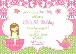 Reunion Cards Invitation Tea Party Birthday Invitation Princess Tea Dress Up