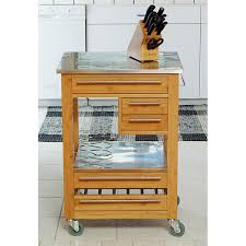 wooden kitchen island with stainless steel top free shipping