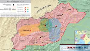 Pakistan On The Map North Waziristan Map Critical Threats