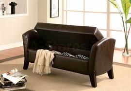 fresh brown leather storage bench storage bench galleries