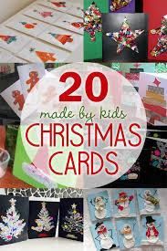 20 homemade christmas cards made by the kids homemade christmas