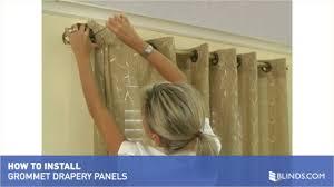 how to install window drapes video grommet drapery panels u0026raquo