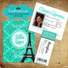Sensational Theme by Paris Themed Quinceanera Invitations Plumegiant Com