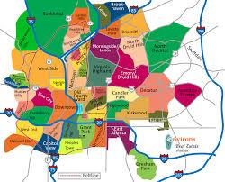 Map Of Boston Neighborhoods by Atlanta Neighborhoods Atlanta Real Estate