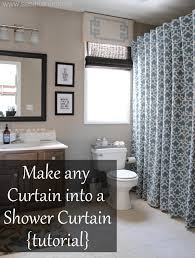 Bed Bath And Beyond Shower Curtain Liner How To Make Any Curtain Into A Shower Curtain Jenna Burger