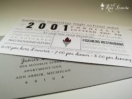 Reunion Cards Invitation La Rue Louise Typographic Style 10 Year High Reunion