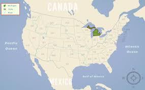 Us Map Michigan by Michigan Mi State Information