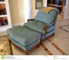 comfortable chair and ottoman royalty free stock photos image