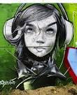 cartoon graffiti girls