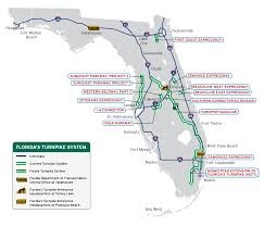 Orlando Florida On Map by Florida U0027s Turnpike The Less Stressway