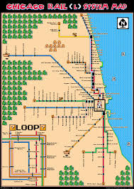 Chicago Line Map by Super Mario Bros 3 Chicago Map