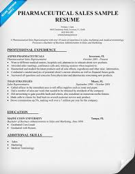 pharmaceutical sales resume sample professional experience