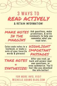 How to Read Actively and Remember What You     ve Read   MichelleAdamsBlog  blogger