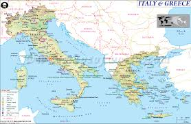 Google Maps Greece by Map Of Italy And Greece