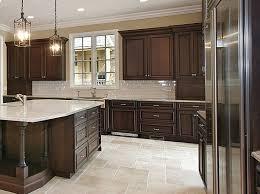 Best  Dark Cabinets White Backsplash Ideas On Pinterest White - Kitchen backsplash ideas dark cherry cabinets