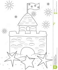 sand castle coloring page stock illustration image 51072817