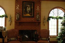 Rustic Home Interior Rustic Brick Fireplace Mantel All Home Decorations