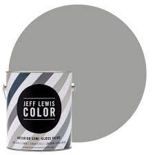 Home Depot Interior Paint Colors by Jeff Lewis Color 1 Gal Jlc414 Gravel Quarter Gloss Ultra Low Voc
