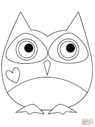 valentine day owl coloring page free printable coloring pages