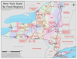 New York State Map by Eat First In A New York Food Map State Of Mind