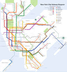 Diagram Of The World Map by New York City Subway Map Wikipedia