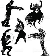 halloween vector art halloween monsters frankenstein dracula werewolf mummy mad